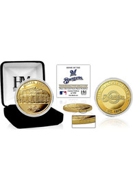 Milwaukee Brewers Stadium Gold Collectible Coin