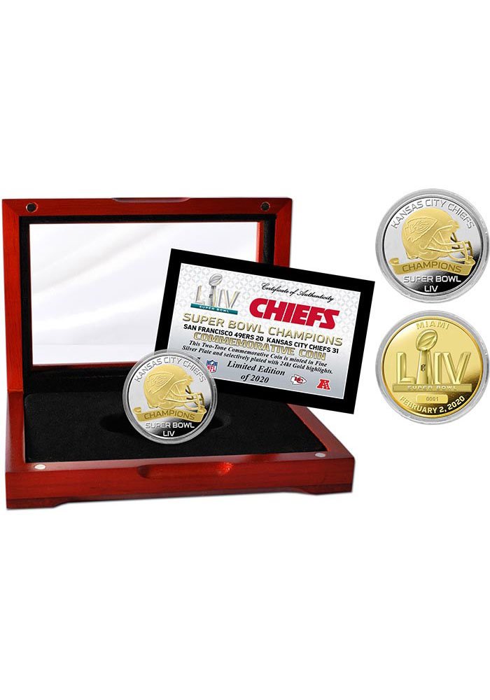 Kansas City Chiefs Super Bowl LIV Champions Two-Tone Collectible Coin - Image 1