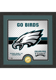Philadelphia Eagles Battle Cry Bronze Photo Mint Plaque
