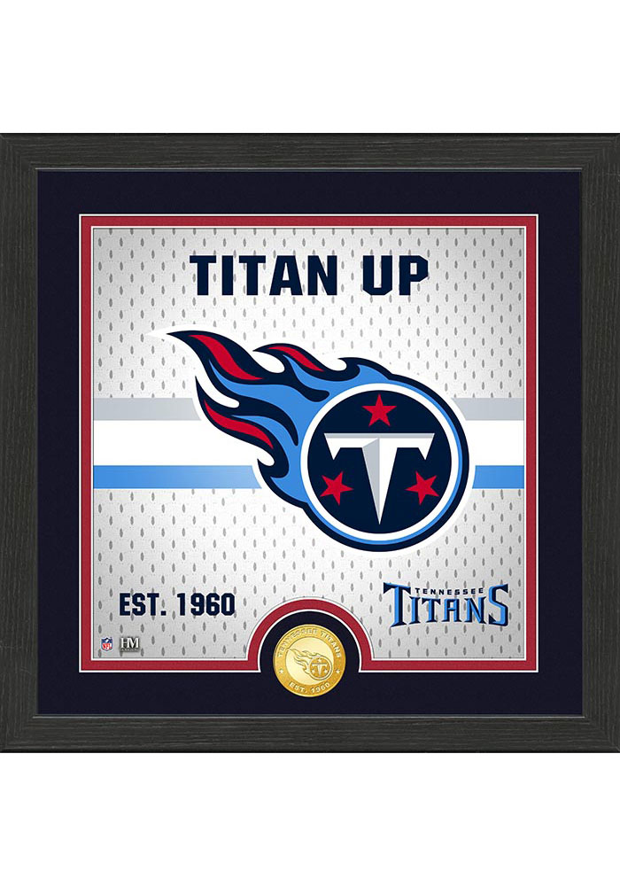 Tennessee Titans Battle Cry Bronze Photo Mint Plaque - Image 1