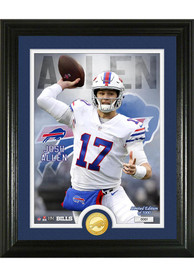Buffalo Bills Josh Allen Bronze Coin Photo Mint Plaque