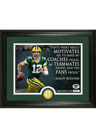Green Bay Packers Aaron Rodgers Quote Bronze Coin Photo Mint Plaque