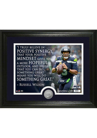 Seattle Seahawks Russell Wilson Quote Minted Coin Photo Mint Plaque