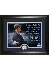 Dallas Cowboys Tom Landry Quote Silver Coin Photo Mint Plaque