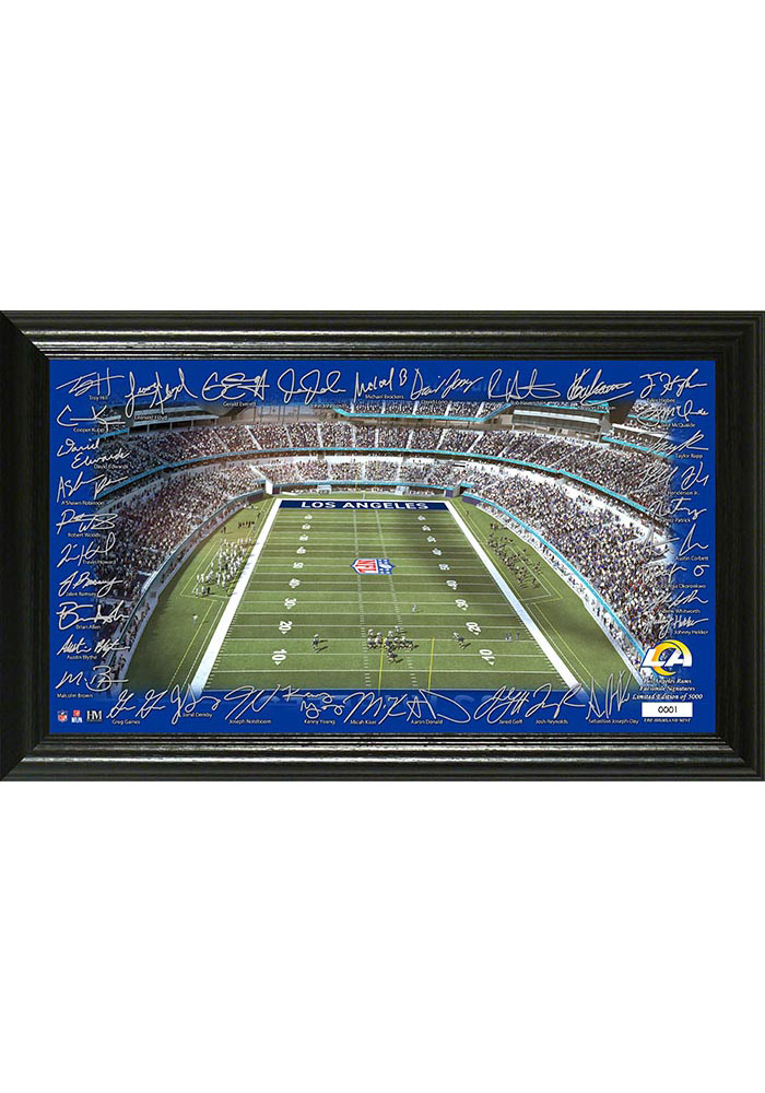 Los Angeles Rams 2020 Signature Gridiron Framed Posters - Image 1