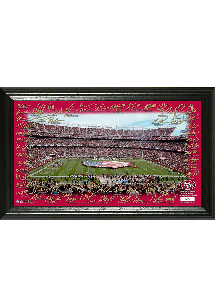 San Francisco 49ers 2020 Signature Gridiron Framed Posters - Image 1
