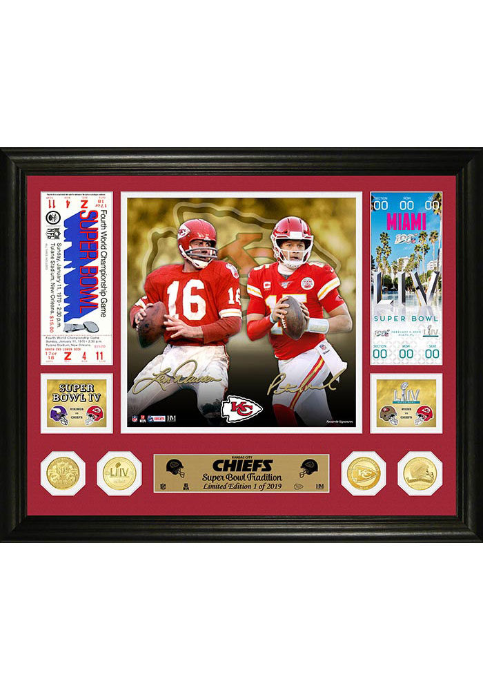 Kansas City Chiefs Then and Now Bronze Coin Photo Mint Plaque - Image 1