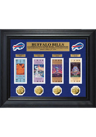 Buffalo Bills Super Bowl Ticket Collection Plaque