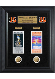 Cincinnati Bengals Super Bowl Ticket Collection Plaque