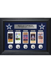 Dallas Cowboys Super Bowl Ticket Collection Plaque