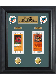 Miami Dolphins Super Bowl Ticket Collection Plaque