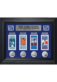 New York Giants Super Bowl Ticket Collection Plaque