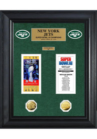 New York Jets Super Bowl Ticket Collection Plaque