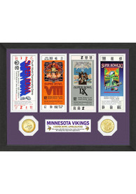 Minnesota Vikings Super Bowl Ticket Collection Plaque