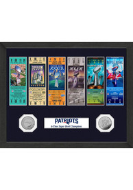 New England Patriots Super Bowl Ticket Collection Plaque