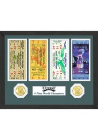 Philadelphia Eagles Super Bowl Ticket Collection Plaque