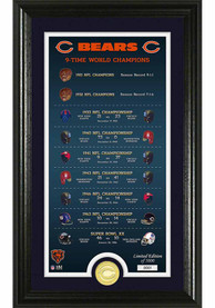 Chicago Bears Legacy Bronze Coin Photo Mint Plaque