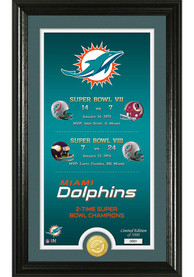 Miami Dolphins Legacy Bronze Coin Photo Mint Plaque