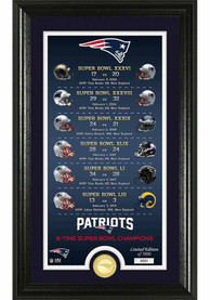New England Patriots Legacy Bronze Coin Photo Mint Plaque