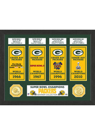 Green Bay Packers Super Bowl Banner Collection Plaque