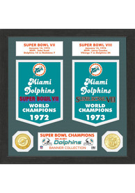 Miami Dolphins Super Bowl Banner Collection Plaque
