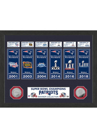 New England Patriots Super Bowl Banner Collection Plaque