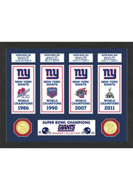 New York Giants Super Bowl Banner Collection Plaque