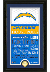 Los Angeles Chargers House Rules Plaque