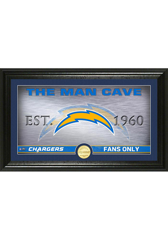 Los Angeles Chargers Man Cave Coin Photo Mint Plaque - Image 1