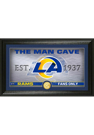 Los Angeles Rams Man Cave Coin Photo Mint Plaque