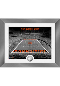 Cincinnati Bengals Art Deco Stadium Coin Photo Mint Plaque