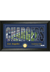 Los Angeles Chargers Silhouette Bronze Coin Photo Mint Plaque