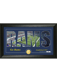 Los Angeles Rams Silhouette Bronze Coin Photo Mint Plaque