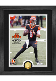 Cincinnati Bengals Joe Burrow 1st NFL Start Photo Mint Plaque