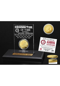 Alabama Crimson Tide 18 Time National Champion Acrylic Gold Collectible Coin