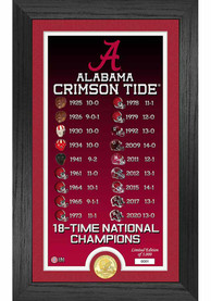 Alabama Crimson Tide 18 Time National Champion Legacy Coin Photo Mint Plaque