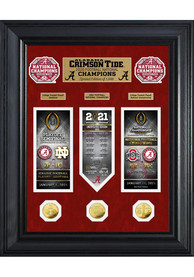 Alabama Crimson Tide 2020 National Champion Deluxe Gold Coin Plaque