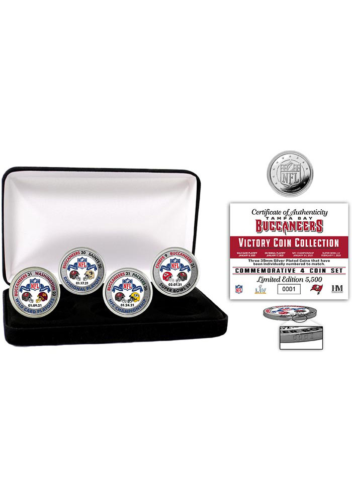 Tampa Bay Buccaneers Super Bowl LV Victory Silver Mint Collectible Coin - Image 1