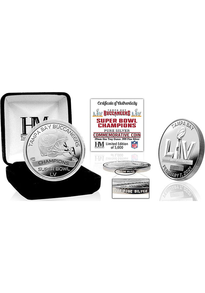 Tampa Bay Buccaneers Super Bowl LV Champions 1oz .999 Fine Silver Mint Collectible Coin - Image 1