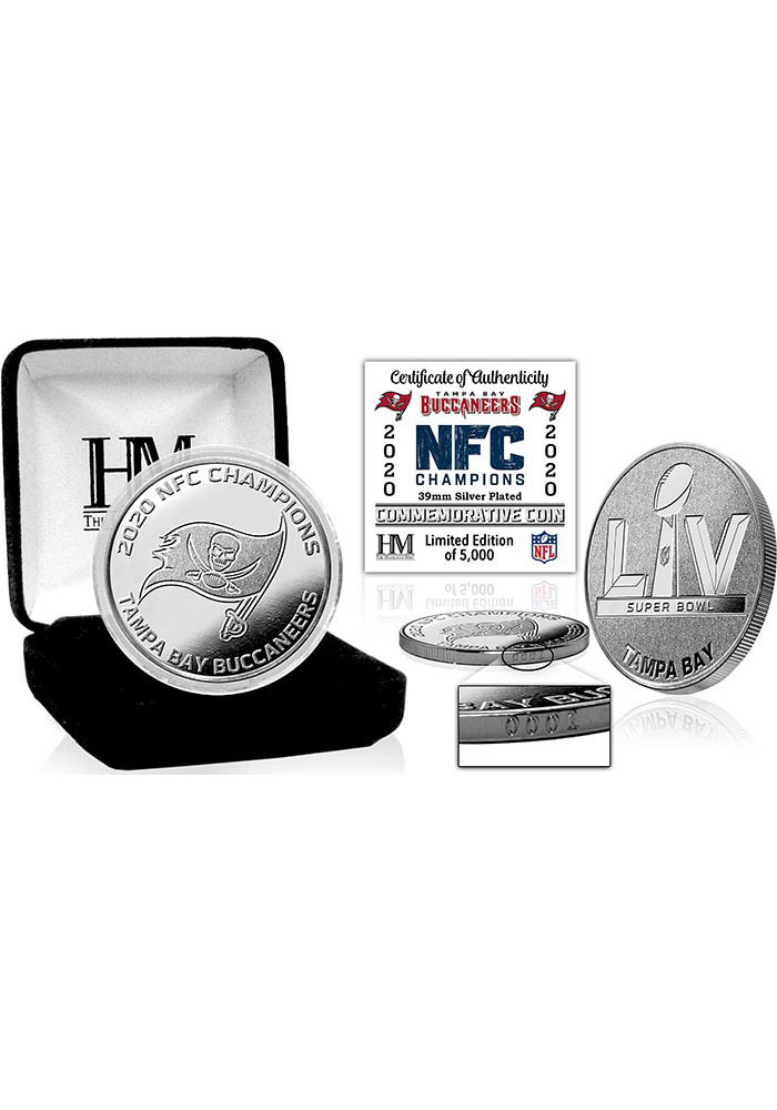 Tampa Bay Buccaneers 2020 NFC Champions Silver Collectible Coin - Image 1