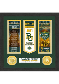 Baylor Bears 2021 National Champions Ticket Banner Plaque