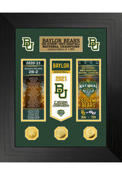 Baylor Bears 2021 National Champions Deluxe Ticket Banner Plaque
