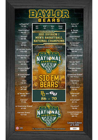 Baylor Bears 2021 National Champions Ticket Pano Plaque
