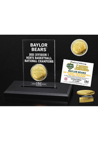 Baylor Bears 2021 National Champions Acrylic Display Gold Collectible Coin