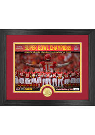 Kansas City Chiefs Super Bowl 54 Champions Banner Raising Bronze Photo Mint Plaque
