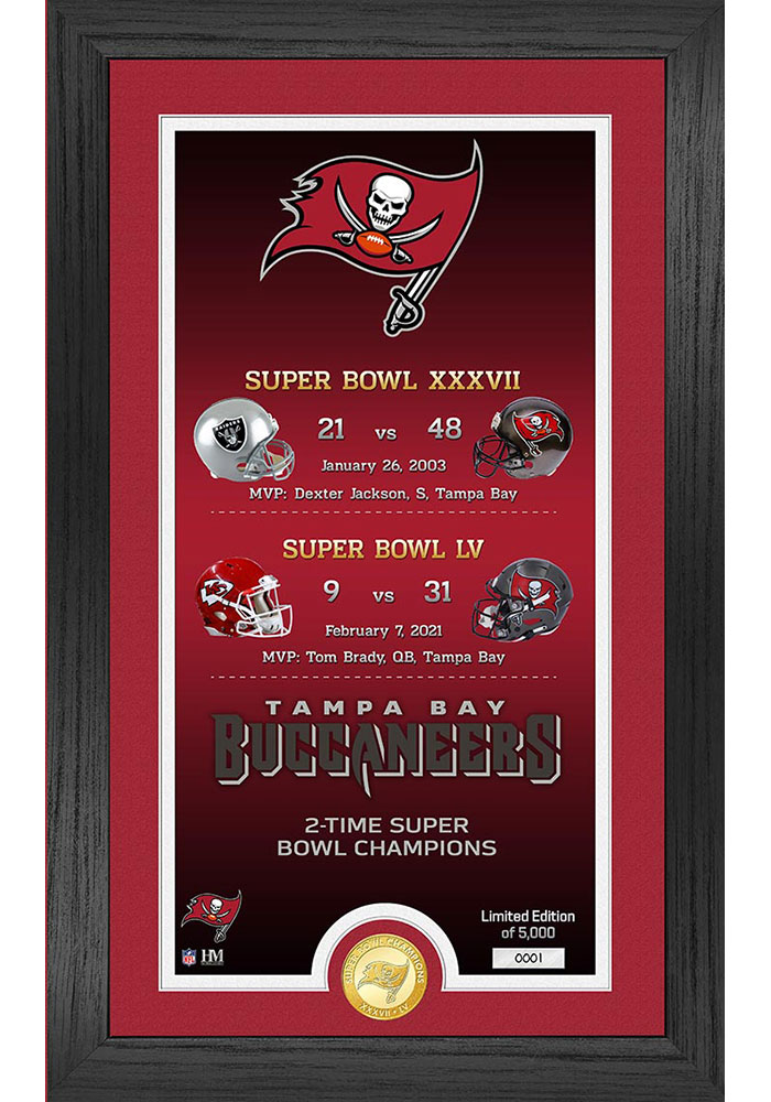 Tampa Bay Buccaneers Super Bowl LV Champions Legacy Bronze Coin Photo Mint Plaque - Image 1
