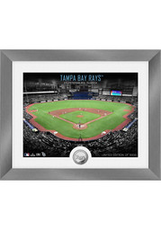 Tampa Bay Rays Art Deco Silver Coin Plaque