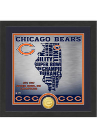 Chicago Bears 13x13 State Bronze Coin Photo Mint Plaque