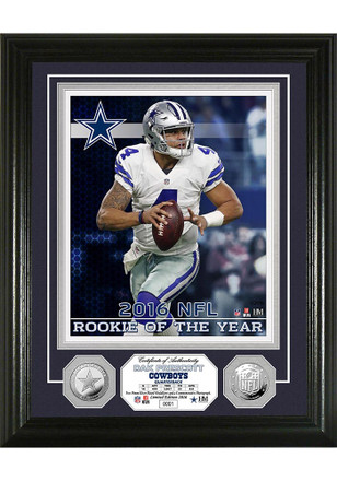 Dallas Cowboys 13x16 NFL Rookie Of The Year Silver Coin Plaque