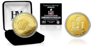 New England Patriots Gold Mint Collectible Coin